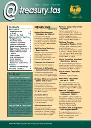 7232 - Newsletter PDF - Department of Treasury and Finance