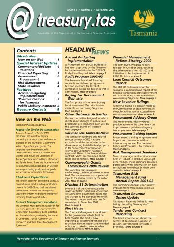 21604 - Newsletter - Department of Treasury and Finance