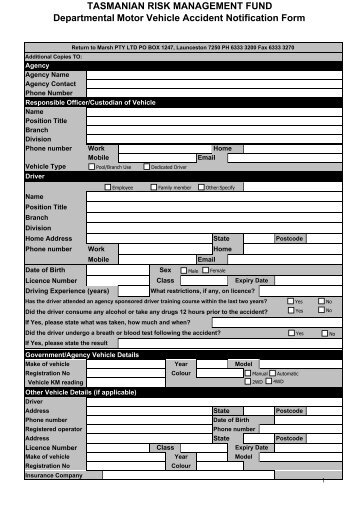 accident notification form