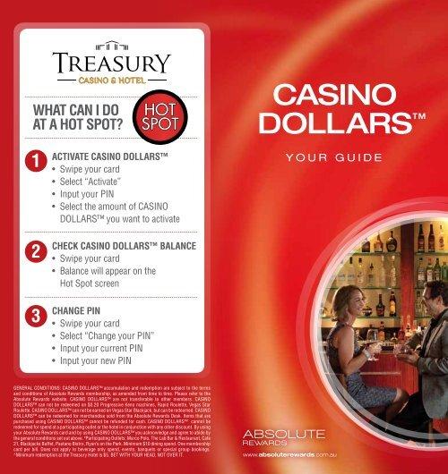 absolute dollars treasury casino