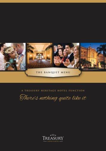 Menu - Treasury Casino & Hotel