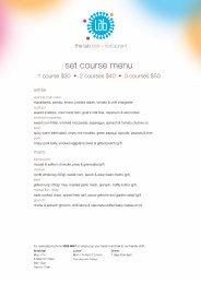 set course menu