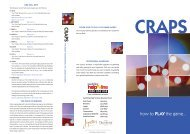 craps 1 - june 11 - new.ai - Treasury Casino & Hotel