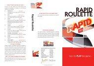 rapid roulette 1 - Feb 11 - new.ai - Treasury Casino & Hotel