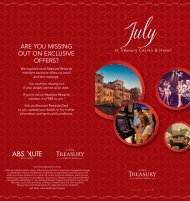 What's On in July - Treasury Casino & Hotel