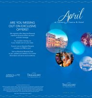 What's On in April - Treasury Casino & Hotel