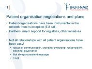 Patient organisation negotiations and plans - Treat-NMD