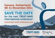 2011 TREAT-NMD Conference Flyer