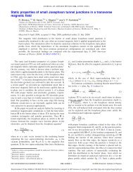 Static properties of small Josephson tunnel junctions in a transverse ...