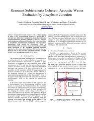 Resonant Subterahertz Coherent Acoustic Waves Excitation by ...