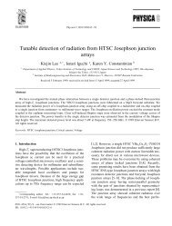 Tunable detection of radiation from HTSC Josephson junction arrays