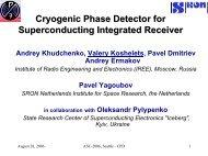 Superconducting Integrated Receiver - Institute of Radio ...