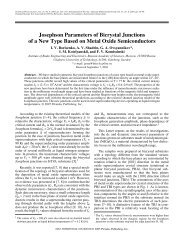 Josephson Parameters of Bicrystal Junctions of a New Type Based ...