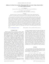 Influence of surface losses and the self-pumping effect on current ...