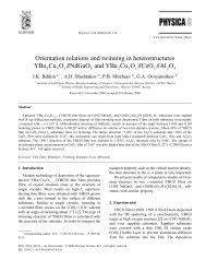 Orientation relations and twinning in heterostructures YBa Cu O ...
