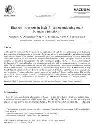 Electron transport in high-¹ superconducting grain boundary junctions