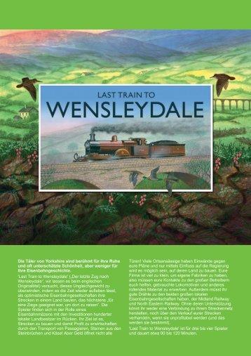 Die Täler von Yorkshire sind berühmt für ihre ... - Treefrog Games