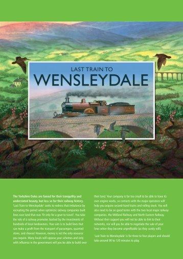 Last Train To Wensleydale rules (PDF) - Treefrog Games