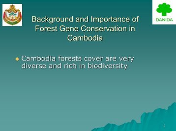 Forest Gene Conservation - Tree Seed Project