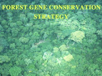 Forest Gene Conservation