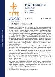 Nr. 08/2011 - Treffpunkt Kirche