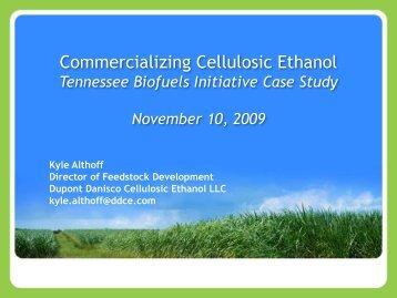 Commercializing Cellulosic Ethanol - Texas Renewable Energy ...