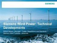 Siemens Wind Power: Technical Developments