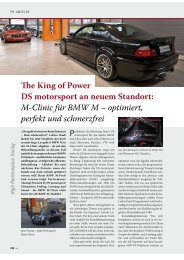 The King of Power DS motorsport an neuem ... - DS motorsport Gmbh