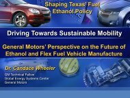Perspective on Future of Ethanol and Flex Fuel Vehicle Manufacture