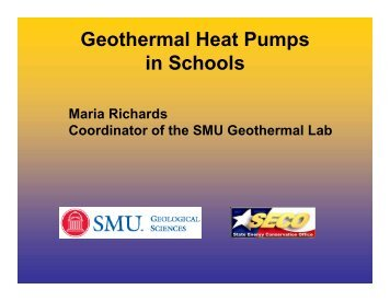 Geothermal Heat Pumps in Schools