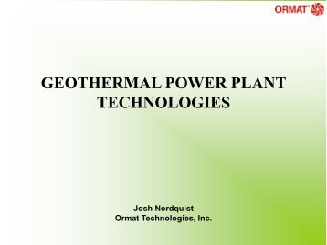 Geothermal Power Plant Technologies - Texas Renewable Energy ...