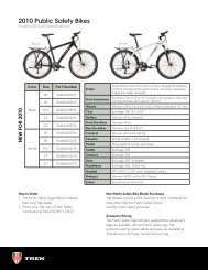 2010 Public Safety Bikes - Trek Bicycle Corporation
