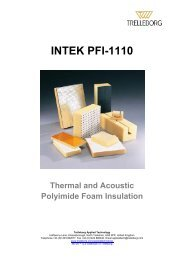 INTEK PFI-1110 Technical Data Sheet - Trelleborg