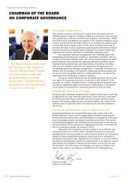 CHAIRMAN OF THE BOARD ON CORPORATE ... - Trelleborg