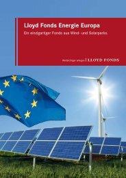 Lloyd Fonds Energie Europa - Trend-Invest.de