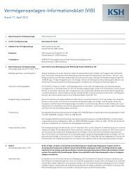 Vermögensanlagen-Informationsblatt (VIB) - Fondsvermittlung24.de