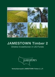 Verkaufsprospekt JAMESTOWN Timber 2 - Trend-Invest.de