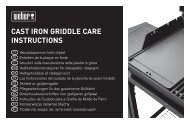 CAST IRON GRIDDLE CARE INSTRUCTIONS - Trend & Living GmbH