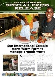 Sun International Zambia starts Worm Farm to manage organic waste