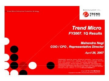 Microsoft PowerPoint - CFO_2007Q1_E_Final.ppt - Trend Micro