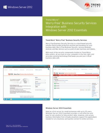 Solution Brief: Worry-Free Business Security Services ... - Trend Micro