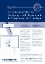 Kooperationen, Netzwerke, Beteiligungen und ... - trend:research