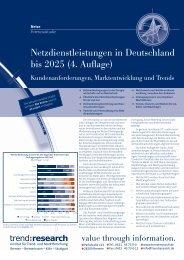 Netzdienstleistungen in Deutschland bis 2025 (4 ... - trend:research