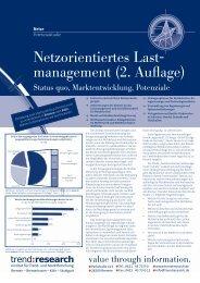 Netzorientiertes Last- management (2. Auflage) - trend:research
