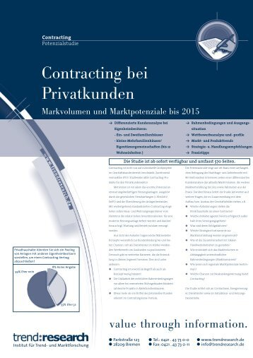 Contracting bei Privatkunden - trend:research