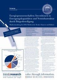 Energiegenossenschaften - trend:research