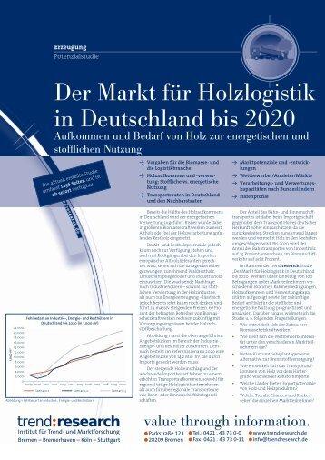 Der Markt für Holzlogistik in Deutschland bis 2020 - trend:research