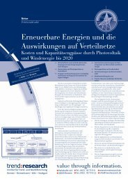 Erneuerbare Energien und die Auswirkungen auf ... - trend:research