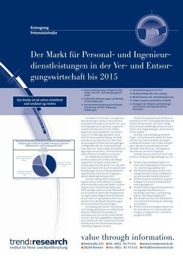 Der Markt für Personal- und Ingenieur ... - trend:research
