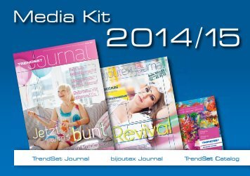 Media data for TrendSet Journal and Catalogue 2014/2015